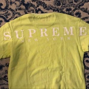 Supreme SS19 Strip Rib Waffle Top PaleLime Medium